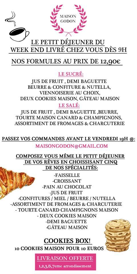 menu Maison Godon