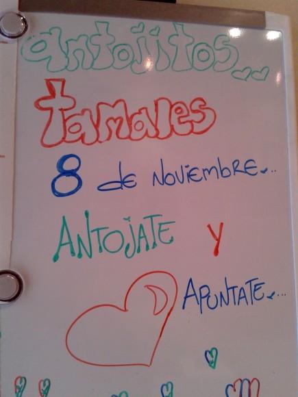 Activité Tamales le 8 novembre... à bon entendeur !