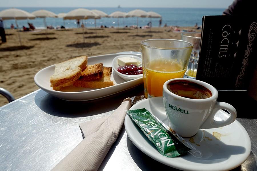 Petit dej à Barcelone