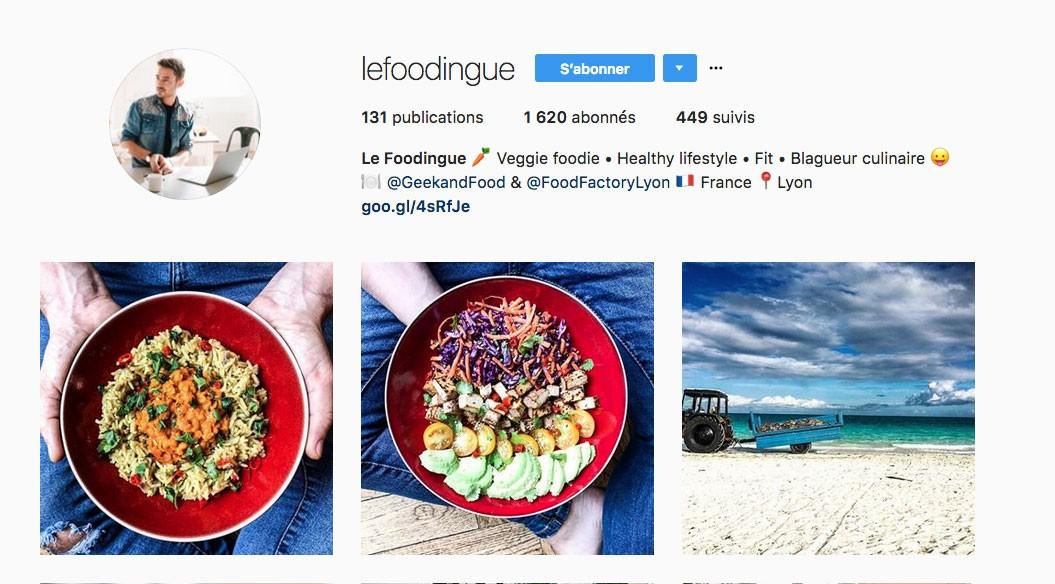Instagram Végétarien Lyon