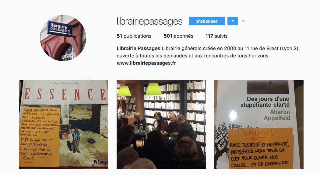 Instagram Lyon Librairie Passages