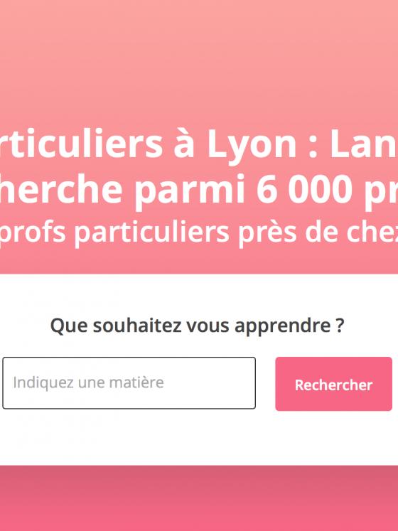 Page d'accueil SuperProf Lyon