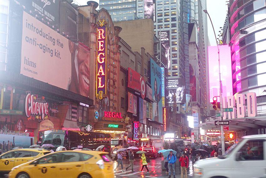 New-York sous la pluie