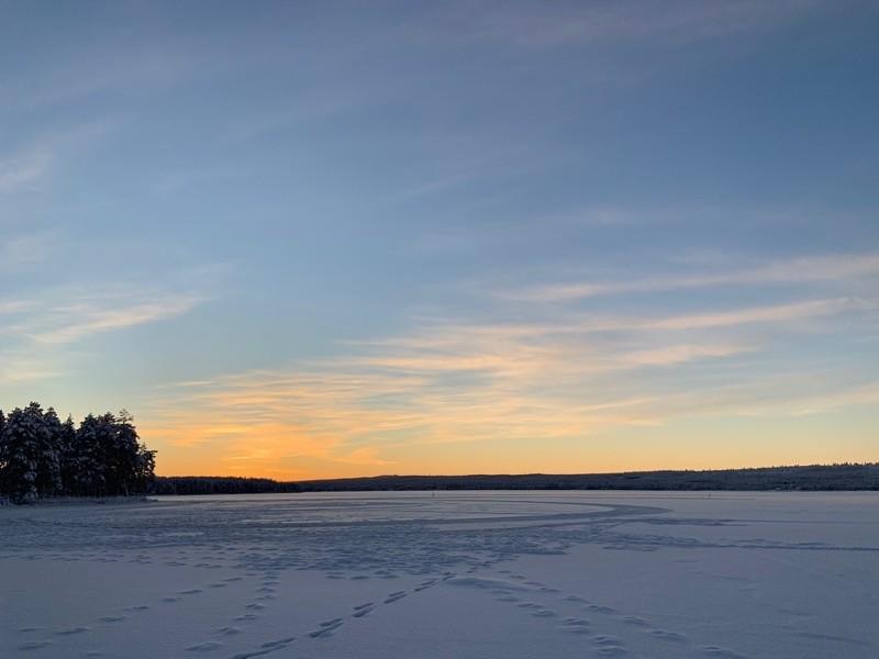 Laponie Lever de soleil