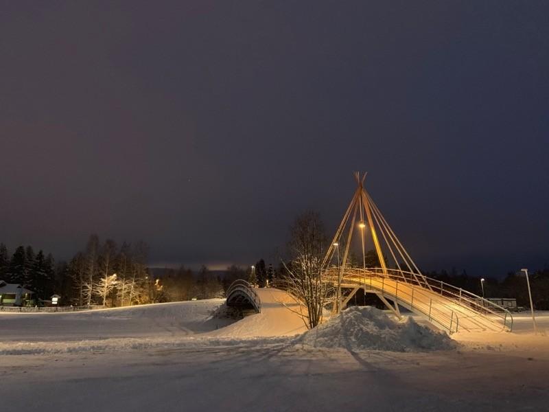 Paysage nuit Laponie