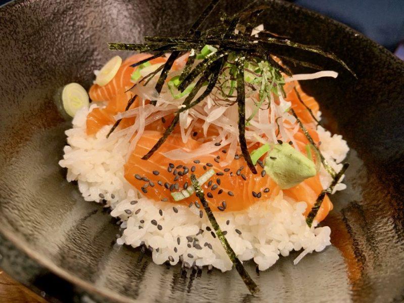 Plat japonais saumon