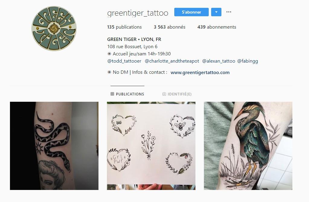 Green Tiger tatoueur lyonnais CityCrunch
