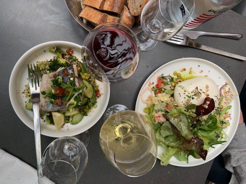 Plats au restaurant l'Encart à Lyon