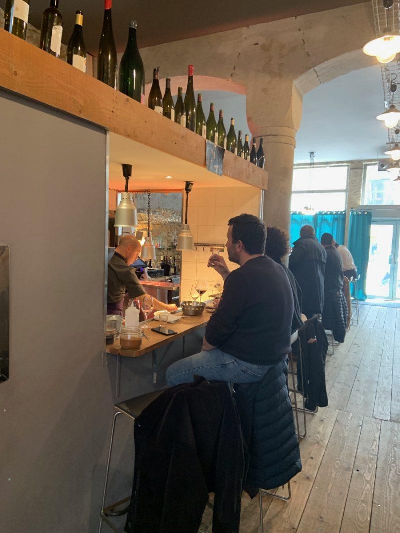 Déco du restaurant l'Encart à Lyon