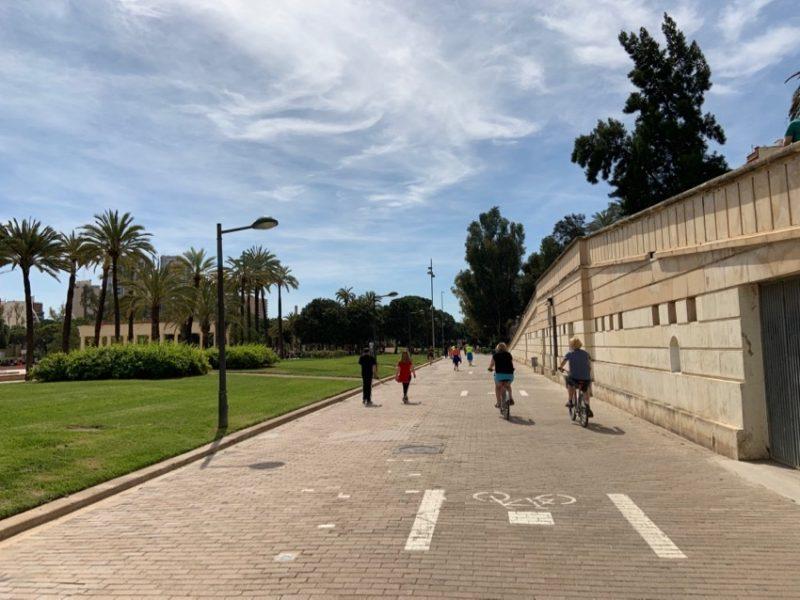 Piste cyclabe à Valence