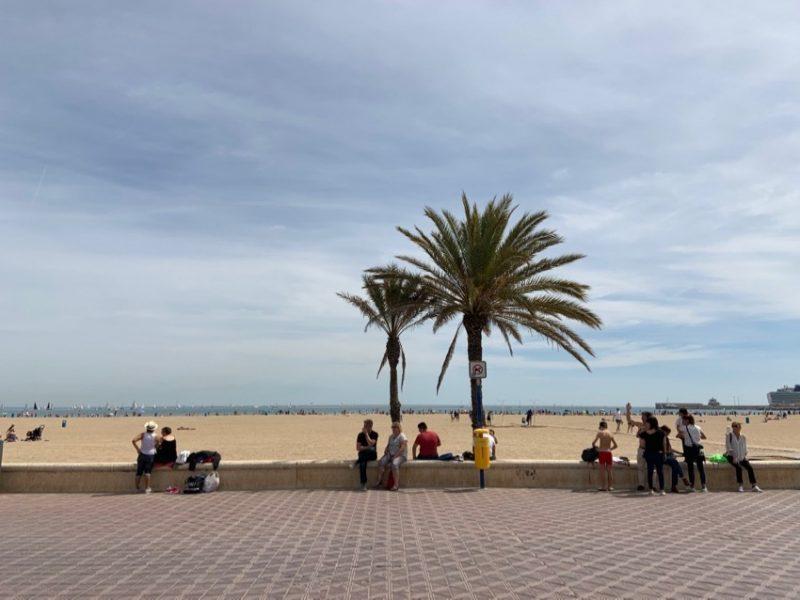 Plage à Valence