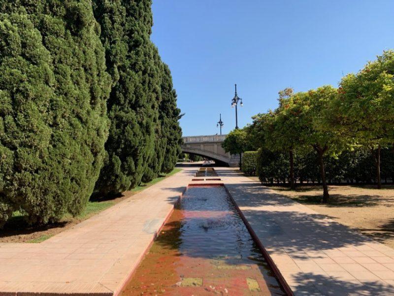 Point d'eau dans le Jardin du Turia