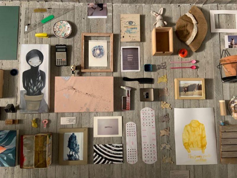 mur d'objets