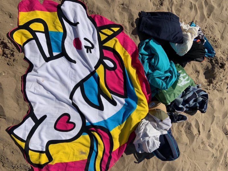 Serviette de plage licorne