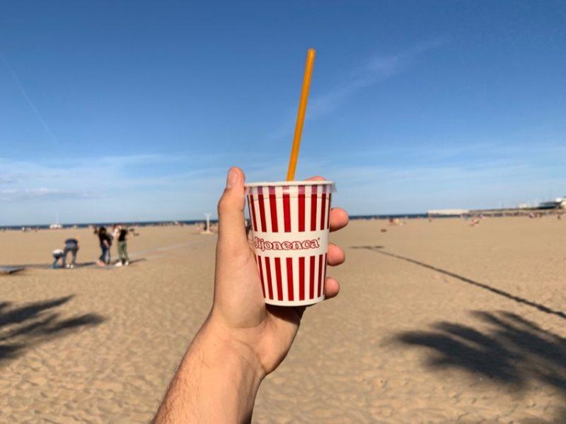 Horchata à la plage
