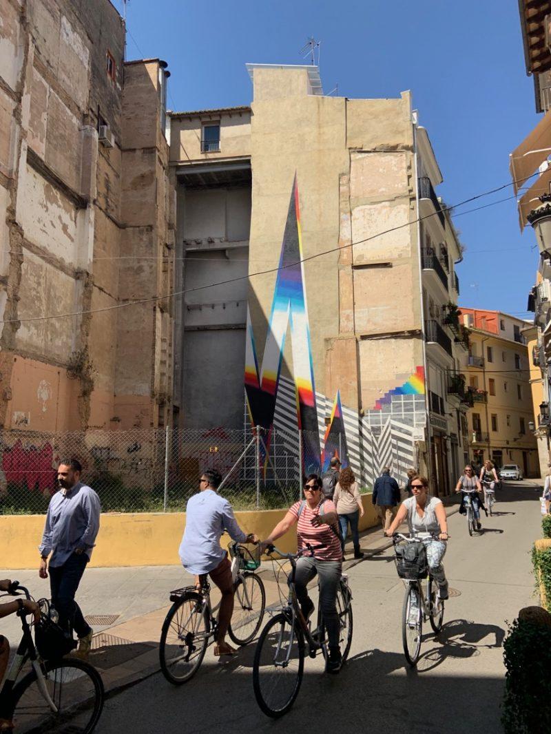 vélo et street art à Valence