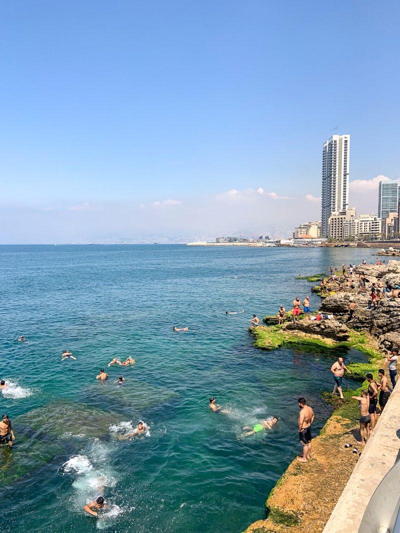 Se baigner à Beyrouth