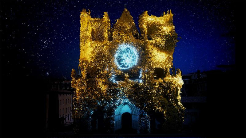 cathédrale Saint Jean illuminée