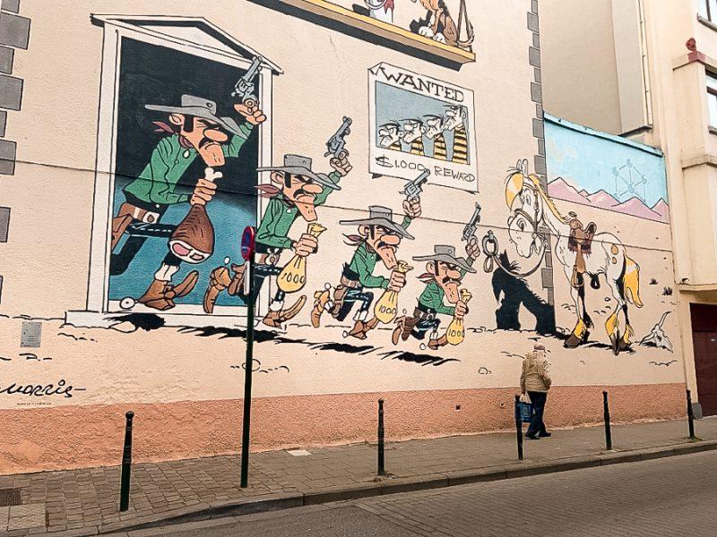 Fresque Lucky Luke