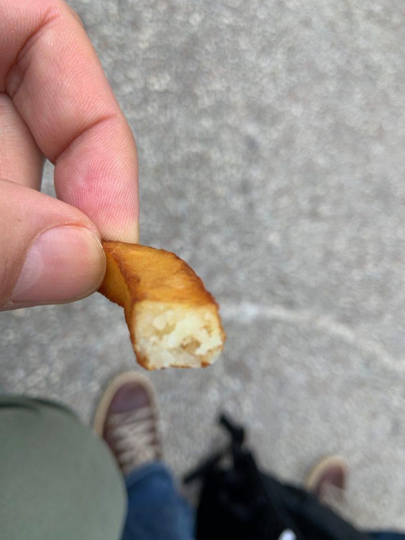 Interieure de la frite
