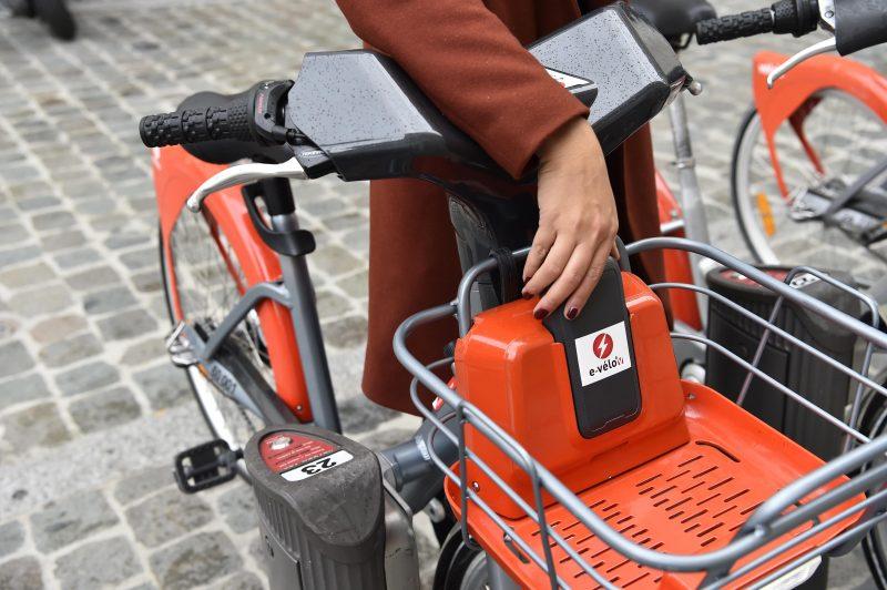 Connexion de la batterie e-Vélo'v
