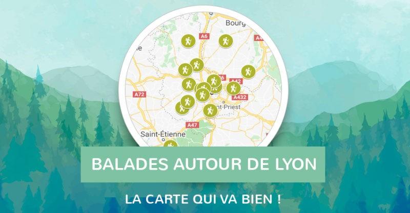 Carte balade à 100km de Lyon