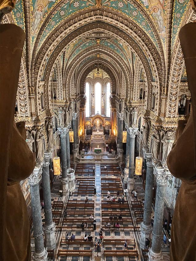 Basilique de Fourvière vue de haut