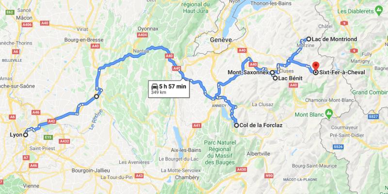 map haute savoie