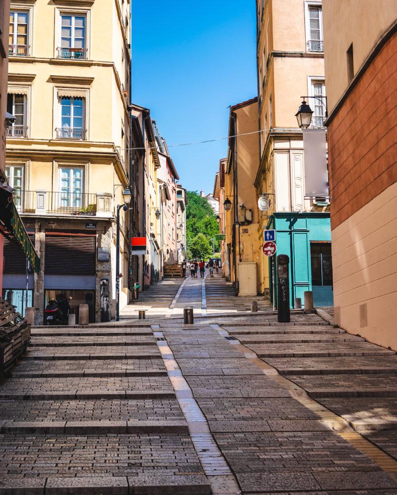 Vue des Pentes de La Croix-Rousse à Lyon