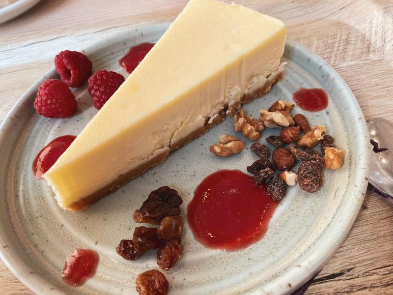 Cheesecake noix et frambroise