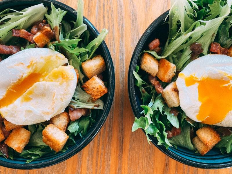 Recette de la salade lyonnaise