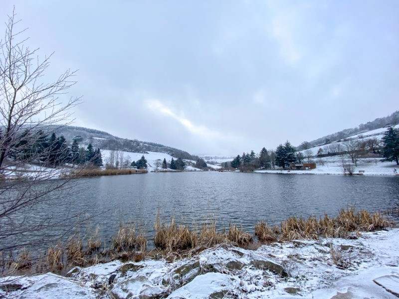 Lac de Ronzey en hiver