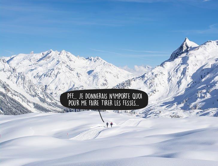 Faire du ski sans remontée mécanique