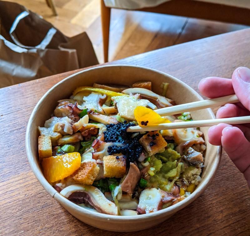 Salade de poulpe Lyon
