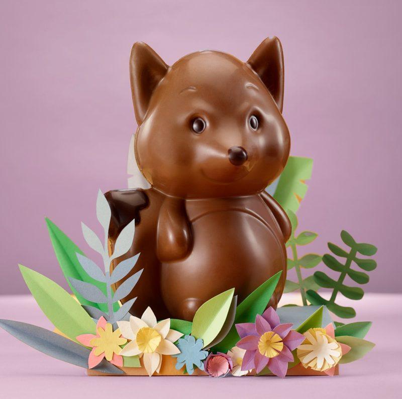 Petit renard en chocolat