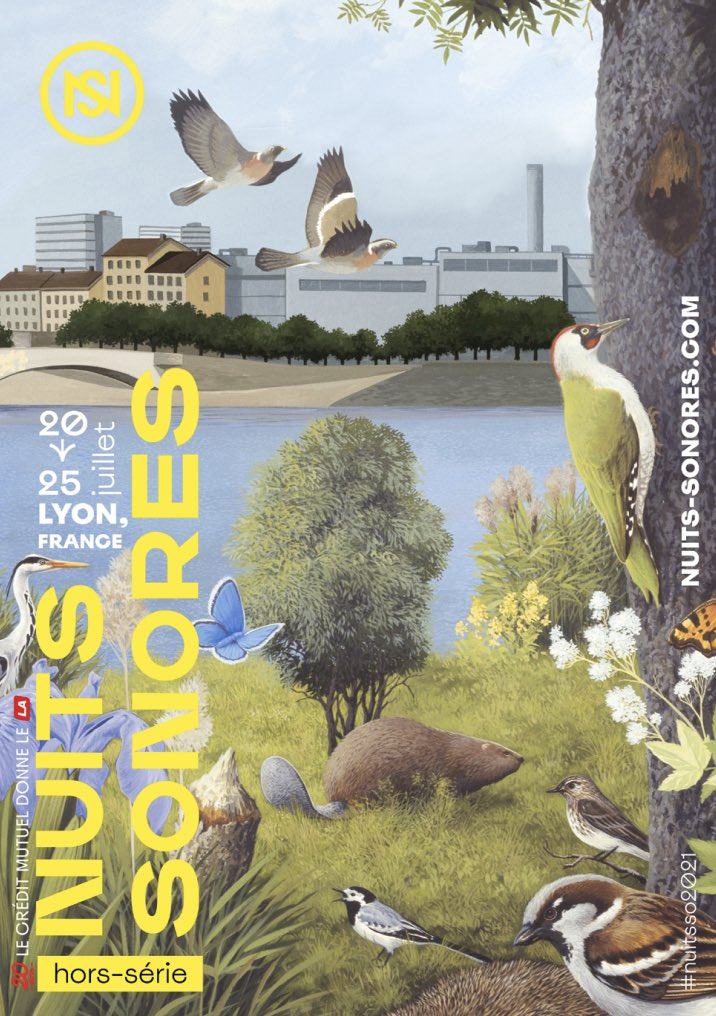 Affiche Nuits Sonores 2021