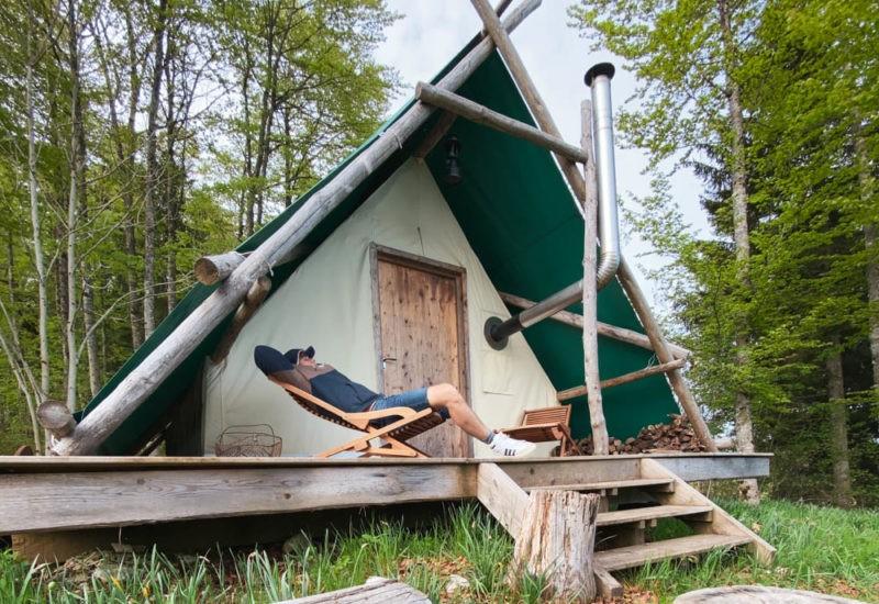 Tente Prospecteur dans le Jura